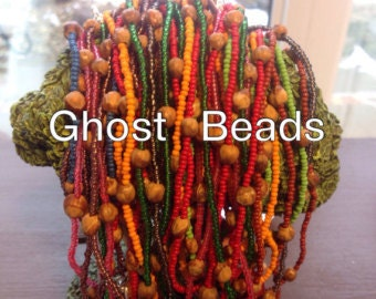 Ghost Bead Necklace, Protection Jewelry from evil spirits & bad dreams. Calming Jewelry for adults, children and baby.