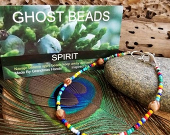 Beaded Protection Anklet, Ghost Bead Anklet,  Protects from Evil Spirits, Bad Dreams, Night Terrors, Sleep Paralysis for children & adults