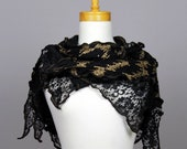 Lace bohemian lace shirts black lace shawl black gold shawl scarf shoulder warmer  shawl scarf shoulder cover black flower lace stole