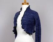 Bolero blue jacket recycled clothing bolero blue