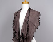 brown scarf women, neck warmer, long scarf, neck cover, snood, scarf brown, neck scarf, brown scarf, summer scarf, winter scarf women