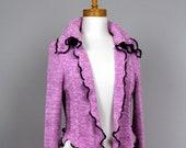 Jacket pink 2 pieces set/Bolero pink/Jacket pink/ upcycled sweater/bolero recycled clothes/shoulder warmer/ upcycled clothing/vest women