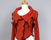 Orange Jacket/upcycled sweater/recycled clothes/shoulder warmer/ upcycled clothing/Bolero orange/winter jacket/jacket women/Bolero orange
