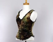 Fitted top brown green gold fitted top women sleeveless tank top women tank top crop top women shrug boho