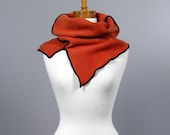 Orange warm neck/neck cover/orange snood/wrist warmer, hand warmer, fingerless glove/scarf/neck ruff/orange unique neck cover/snood women