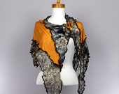 Orange gold shawl black brown lace for women shoulder cover women scarf Mother's day