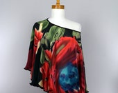 Versatile silk poncho shawl for women shawl poncho black red green silk shoulder warmer top women evening poncho silk shawl women