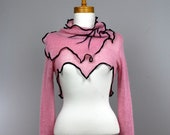 Shoulder cover pink/evening shoulder collar/top cover/black unique shoulder cover/long sleeve shoulder cover/sexy shoulder cover evening