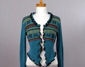 Blue Jacket/upcycled sweater/recycled clothes/shoulder warmer/ upcycled clothing/Bolero blue/winter jacket/blue jacket/Bolero women blue