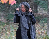 Shawl scarf, shoulder cover, black neck cover, shoulder warmer, shawl cardigan, head cover, women clothing, women fashion, special outing
