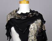 Brown beige lace shawl black shawl scarf shoulder warmer lace bohemian shirts shawl scarf shoulder cover brown beige flower lace stole