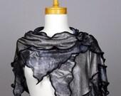 Grey floral lace shawl cover shoulder woman wedding shawl