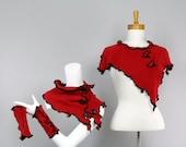 Short Tops Women /Shoulder Warmer/Women Tops/On Top of Shoulder/top Shoulder red/Hand Made Top/Women top poncho women/poncho women red
