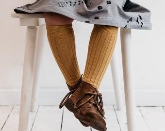 c0cc4ab96 Knee high socks mustard