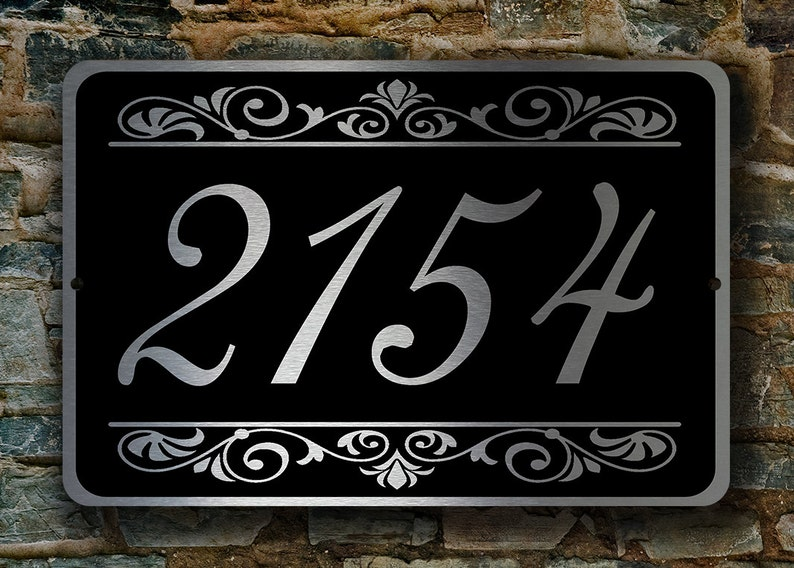 ca36877a003a CUSTOM HOUSE NUMBERS Sign Outdoor Address Signs Custom | Etsy