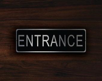 ENTRANCE DOOR SIGN, Entrance sign, Entrance, Office Supplies, Entrance Door, Entrance Door sign, Entrance Door Plate, Entrance Door Plaque,