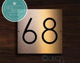 Square Door Number Plaques, Copper Address Plaque, Copper Address Numbers, Copper Numbers, Copper Address Numbers, Copper address plaque