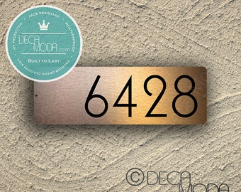 COPPER ADDRESS SIGN, Outdoor Signs, Brushed Copper Finish, Modern Address, Custom Address sign, Personalised Address, Copper Address Signs