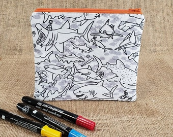Coloring Pencil Case Sloth Gifts for Her Sloth Coloring Pencil Pouch Stocking Stuffers for Kids DIY Zipper Pouch Teen Girl Gifts