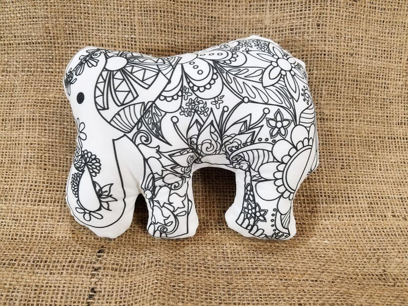 Kit Coloriage Fille.Elephant Coloriage En Peluche Peluche Elephant Adulte Kit De Etsy