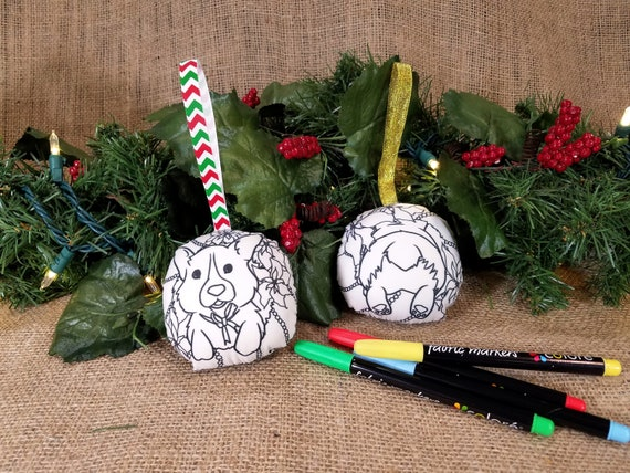 Diy Christmas Ornaments As Gifts.Double Sided Corgi Christmas Ornament Diy Dog Coloring Ornaments Holiday Gift Diy Christmas Ornaments Xmas Craft Kid Christmas In July