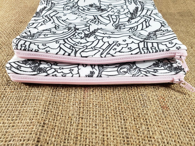 Unicorn Gift for Girls Unicorn Birthday Gift for Teen Coloring Zipper Pouch Stocking Stuffers for Girl Unicorn Coloring Pencil Case Kids