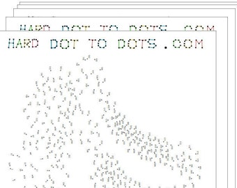 Blue 20-pack of Printable Hard Dot-to-dots (20 pages)