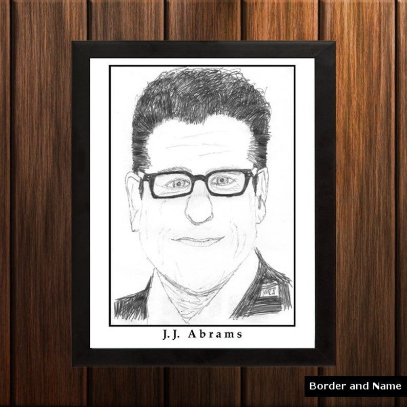 J.J. Abrams  Sketch Print  8.5x11 inches  Black and White  image 0