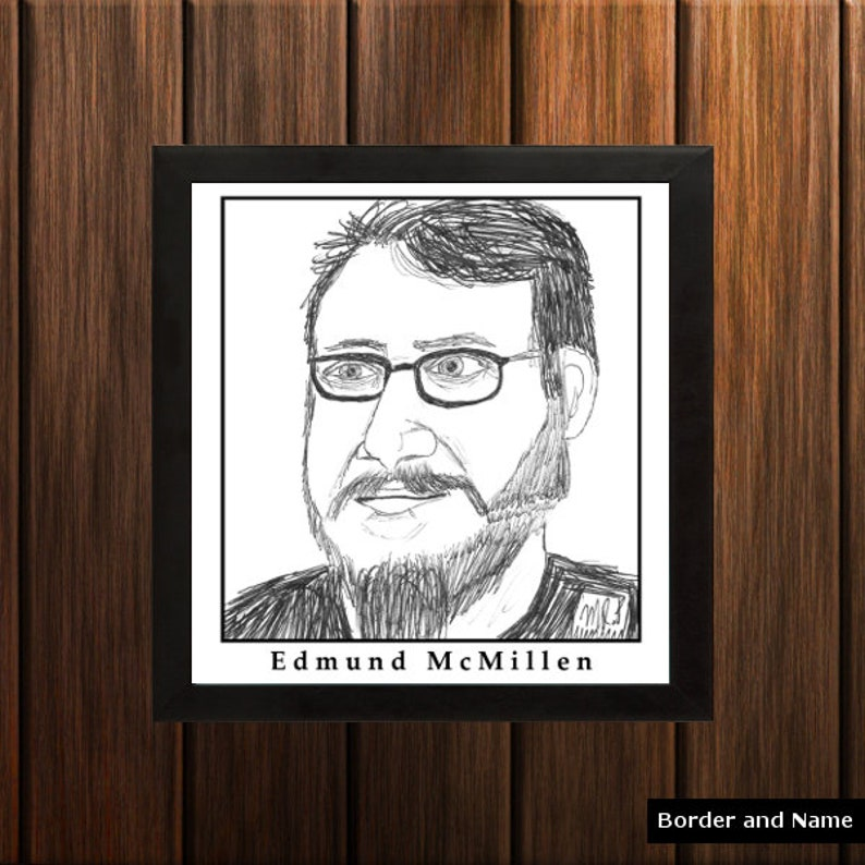 Edmund McMillen  Sketch Print  8.5x9 inches  Black and image 0