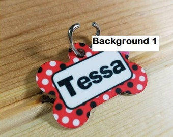 Personalized dog bone shaped pet tag- Dog tag- Pet ID- Lost Dog- Family Pet-Custom Dog Tag- Custom Pet Tag
