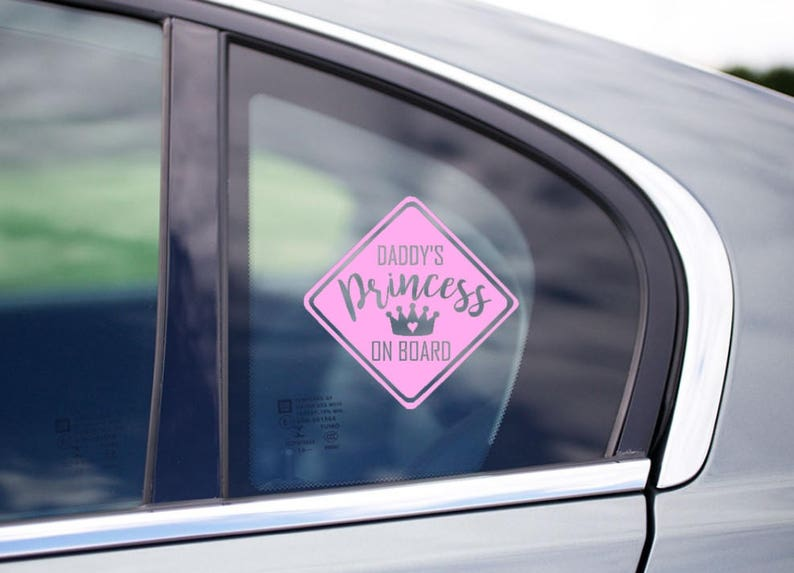 c59d11f894b Daddy s   Mommy s Princess On Board Car Decal Funny