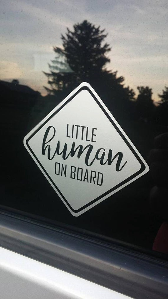 Blue Baby Face   MUMMY/'S LITTLE BOY   Personalised Baby on Board Car Window Sign