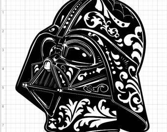 Exceptional Star Wars Darth Vader Fancy Design SVG EPS DXF Studio 3 Cut File