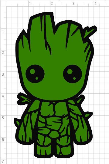 Baby Groot Design Svg Pdf Eps Dxf Amp Studio 3 Cut Files Etsy