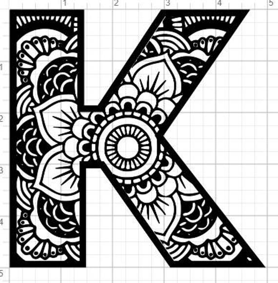 mandala alphabet letter j design svg pdf eps dxf studio