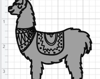 Cute Llama Design  SVG PDF EPS Dxf & Studio 3 Cut Files