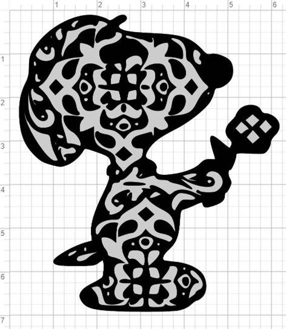 Download Layered Snoopy Mandala Design SVG EPS DXF Studio 3 Cut ...