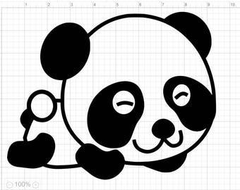 3 Cute Baby Pandas SVG PDF EPS Dxf & Studio 3 Cut Files