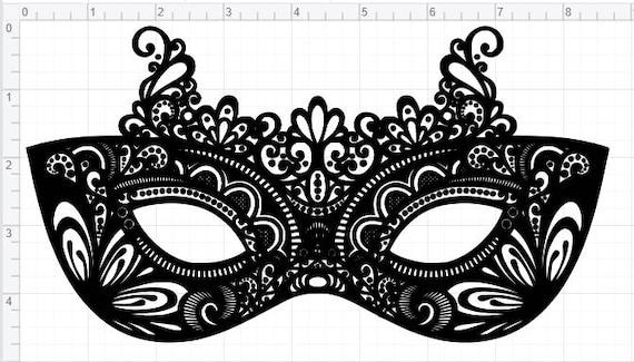 masquerade mask design svg pdf eps dxf studio 3 cut files etsy