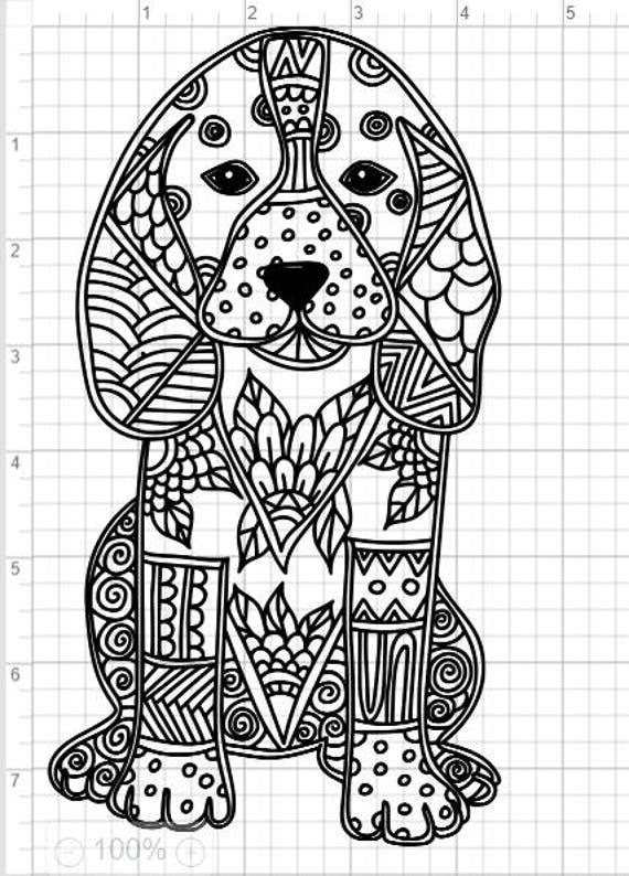 Mandala Stijl Hond Svg Pdf Eps Dxf Amp Studio 3 Geknipte Etsy
