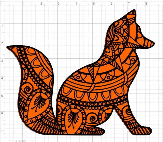 Download Layered Fox Mandala Design SVG EPS DXF Studio 3 Cut File ...