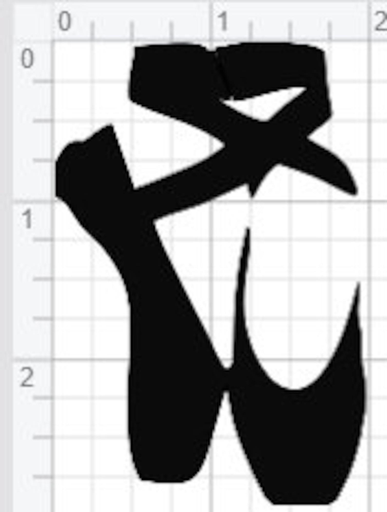 ballet pointe slippers design svg eps dxf pdf studio 3 cut files