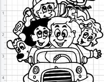 Family Vacation Kids Design SVG EPS DXF pdf Studio 3 Cut Files