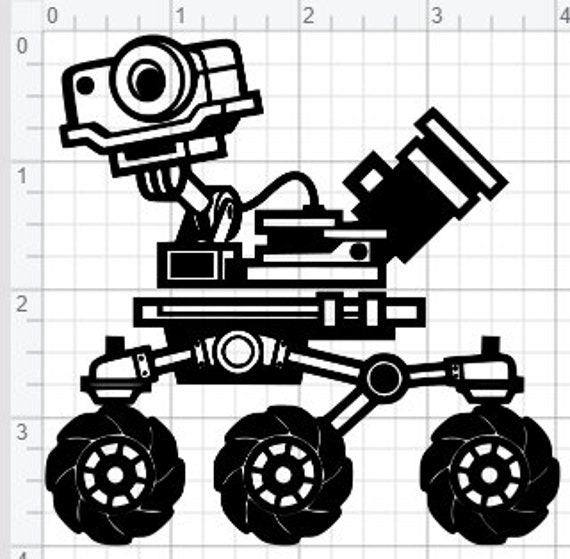 Space Rover Design Svg Pdf Eps Dxf Studio 3 Cut Files
