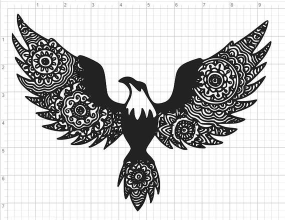 28db5d27b0429 Bald Eagle Mandala Design SVG PDF EPS Dxf & Studio 3 Cut Files | Etsy