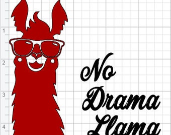 No Drama Llama Design  SVG PDF EPS Dxf & Studio 3 Cut Files