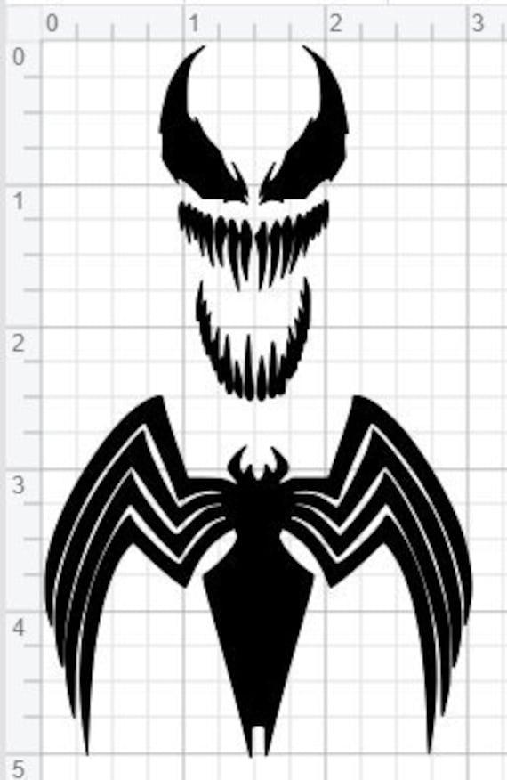 Venom Grin Vector: Venom Design SVG EPS DXF Pdf Studio 3 Gesneden Bestanden