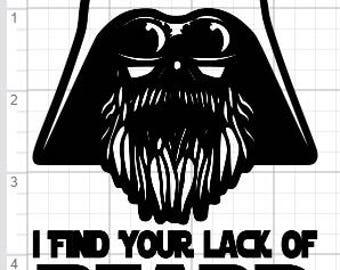 Lack of Beard Darth Vader Inspired Design SVG EPS DXF pdf Studio 3 Cut Files