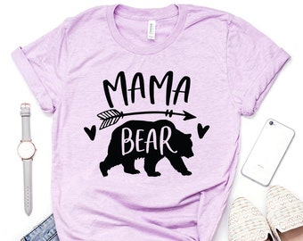 9c665228eea43 Mommy Bear, Mama Bear Shirt, Gift For Mom, Mothers Day Gift, Mom Shirt,  Family Shirts, Mom Life, Unisex Graphic Tee