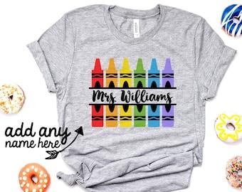 3805fcccf Personalized Teacher Shirts - Monogram Teacher Shirt - Custom Teacher Shirt  - Gift For Teacher - Teaching Shirt - Unisex Graphic Tee